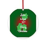 """Jesus is dead"" Ornament (Round)"