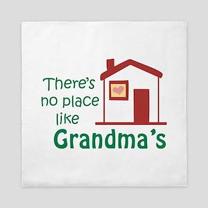 No Place Like Grandma's Queen Duvet