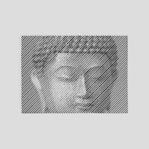 Buddha Face Statue 5'x7'Area Rug