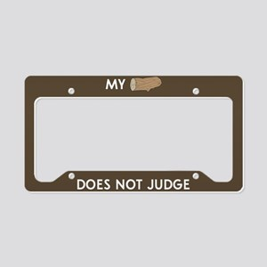 My log does not judge License Plate Holder