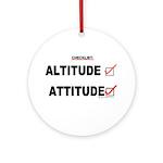 *New Design* Attitude-Check! Ornament (Round)