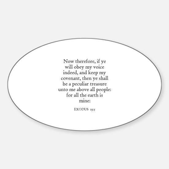 EXODUS 19:5 Oval Decal