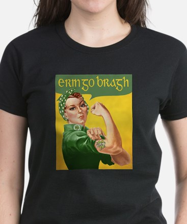 Erin Go Bragh Rosie Women's Dark T-Shirt