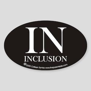 In - Inclusion Oval Sticker