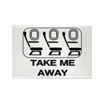 *NEW DESIGN* Take Me Away Rectangle Magnet