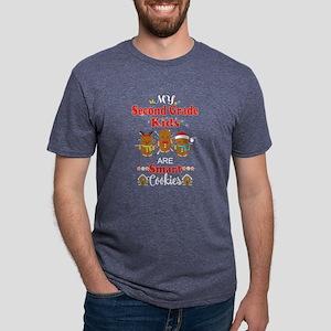 Christmas Teacher Second Grade Smart Cooki T-Shirt