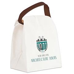 NOLA Architecture Tours Logo Canvas Lunch Bag