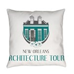 NOLA Architecture Tours Logo Everyday Pillow