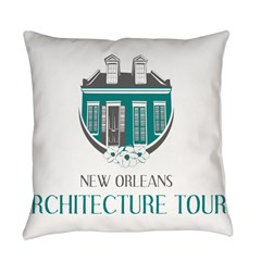 NOLA Architecture Tours Logo Everyday Pillow