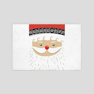 Santa Claus face 4' x 6' Rug