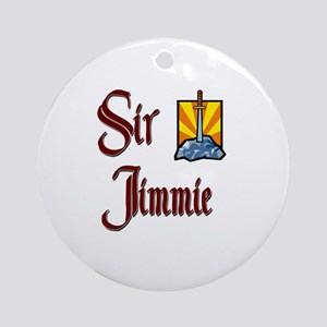 Sir Jimmie Ornament (Round)