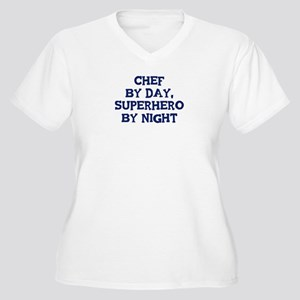 Chef by day Women's Plus Size V-Neck T-Shirt