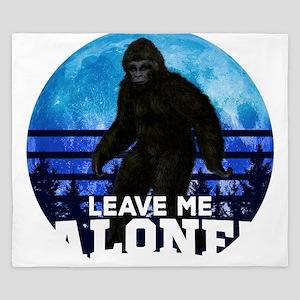 Bigfoot Leave Me Alone Hide & Seek King Duvet