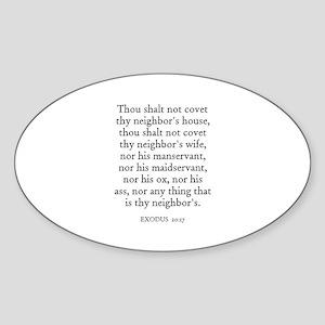 EXODUS 20:17 Oval Sticker