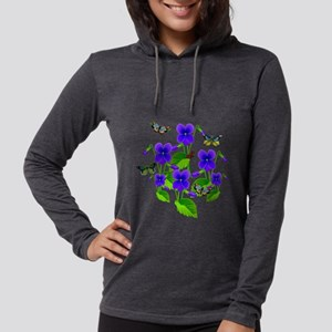Violets and Butterflies Long Sleeve T-Shirt