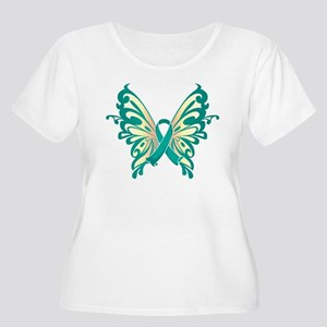 Cervical Cancer Butterfly Women's Plus Size Scoop