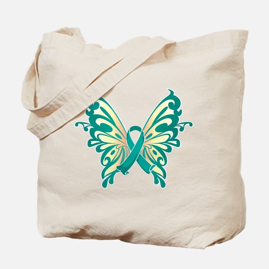 Cervical Cancer Butterfly Tote Bag