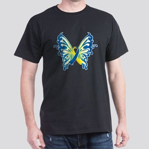 Down Syndrome Butterfly Dark T-Shirt