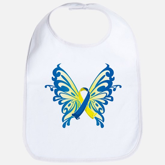 Down Syndrome Butterfly Bib