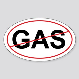 "No GAS ""Green"" Oval Sticker"