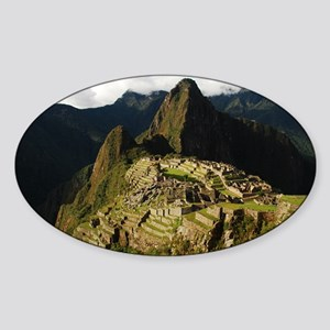 Machu Picchu Oval Sticker