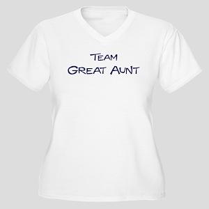 Team Great Aunt Women's Plus Size V-Neck T-Shirt