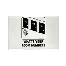 *NEW DESIGN* What's Your Room Rectangle Magnet