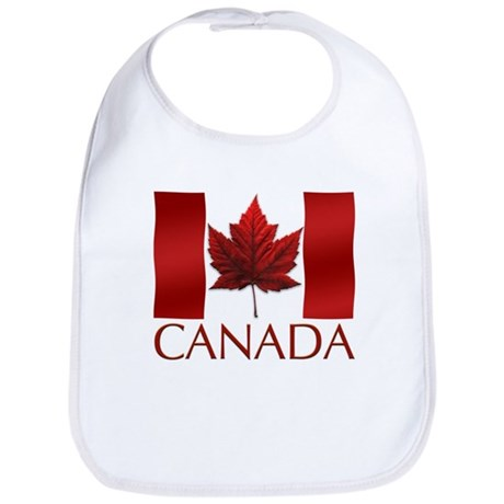 Canada Flag Souvenir Baby Bib Maple Leaf Souvenir