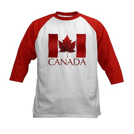 Canada Souvenir Kids Baseball Jersey Canada Flag