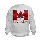 Canadian Flag Kids Sweatshirt Canada Souvenir Gift