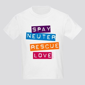Spay Neuter Rescue Love Kids T-Shirt