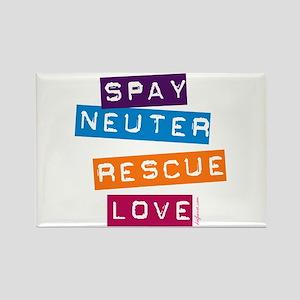 Spay Neuter Rescue Love Rectangle Magnet