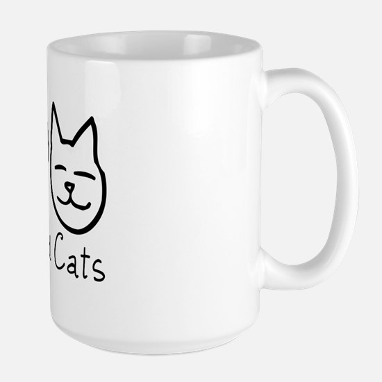 Peace, Love, and Cats! Large Mug