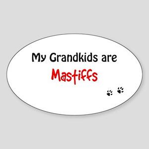 Mastiff Grandkids Oval Sticker