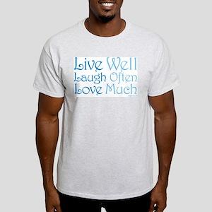 Live Well Ash Grey T-Shirt