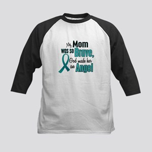 Angel 1 TEAL (Mom) Kids Baseball Jersey