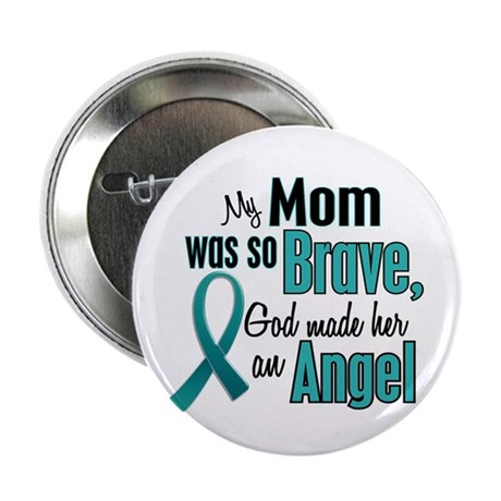 """Angel 1 TEAL (Mom) 2.25"""" Button (10 pack)"""