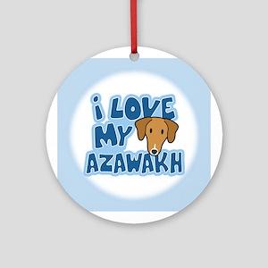 I Love my Azawakh Ornament (Cartoon)