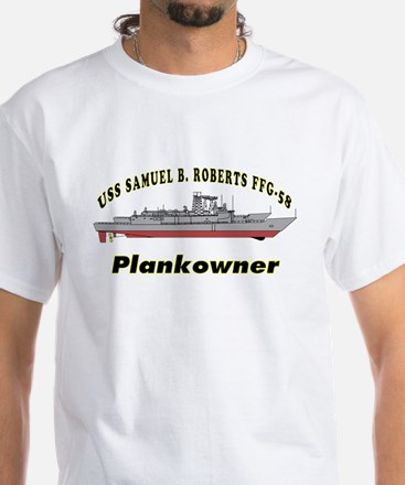 Sample Plankowner USS Roberts White T-Shirt