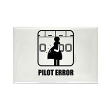 *NEW DESIGN* Pilot Error Rectangle Magnet