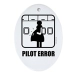 *NEW DESIGN* Pilot Error Oval Ornament
