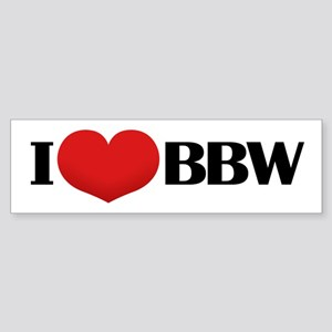 I HEART BBW Bumper Sticker