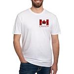 Canadian Flag Art T-Shirt Fitted Men's Souvenir