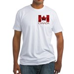 Canadian Flag Art T-Shirt Fitted Men's Souvenir