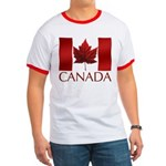 Canadian Flag T-shirt Maple Leaf Art Souvenir