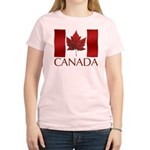 Canadian Flag Womens T-shirt Maple Leaf Souvenir