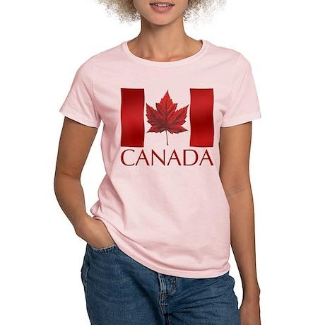 Canadian Flag Womens T-shirt Maple Leaf Souvenir