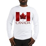 Canadian Flag Long Sleeve T-Shirt