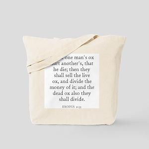 EXODUS  21:35 Tote Bag