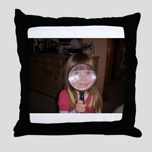 Smiley Girl Throw Pillow